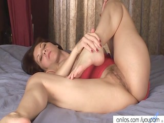 breasty mommy copulates her hairy cunt