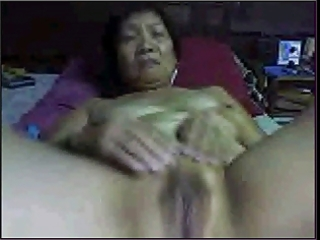 amateur asian granny on web camera