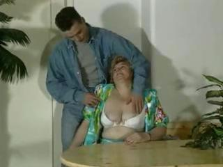 old fat blond granny acquires toyed and sucks on