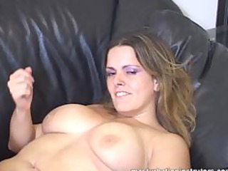 sexy and pleasing large titted jerk off