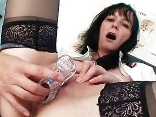 bawdy old milf nurse got nice large wobblers