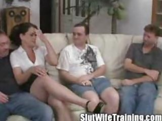 wife holly gets team-fucked on her training