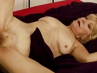 granny acquires her hairy pussy screwed hard