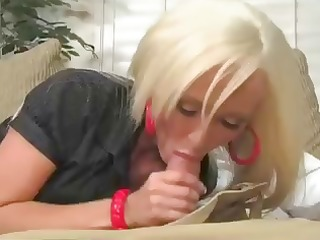 breasty blonde lachelle marie chokes down his