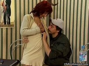 sexually excited aged redhead acquires her wet