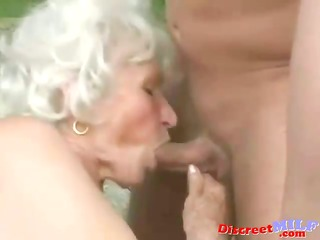 mature granny acquire drilled by youthful man