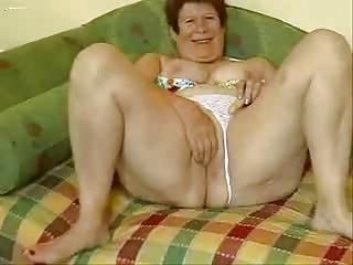 busty granny masturbates in front of livecam