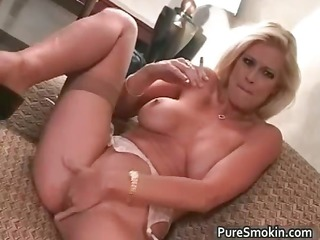 brooke smokes and rubs her cum-hole part8