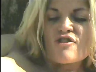 lengthy haired blond does anal outdoors