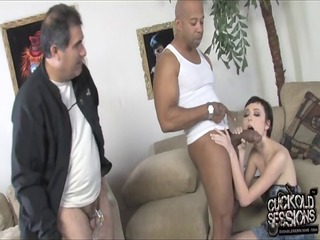 old hubby see his wife pussy destroyed by darksome