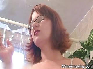 redhead horny playgirl posing stripped