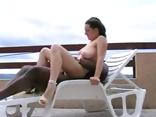 curly big titted brunette acquires bbc drilled