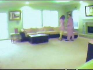 wife caught on hidden spy cam