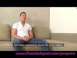 femaleagent. youthful stud is despairing for work