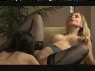 well matured lesbo gives youthful sweetheart a