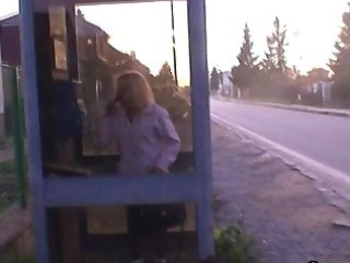 boy picks up blond granny and bangs her