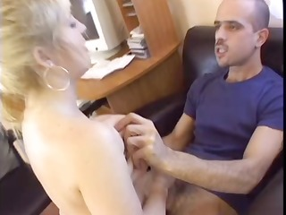 hottie drilled in an office