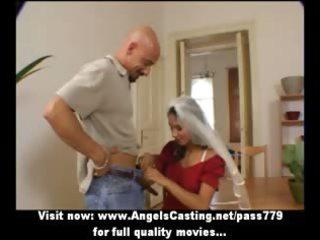 amateur adorable brunette hair wife undressing