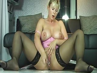 breasty milf in nylons moist squirt big o