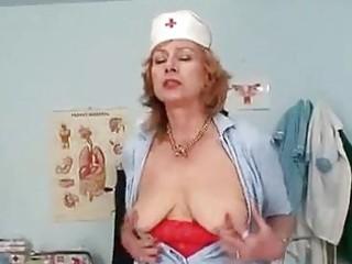 large breasts redhead granny dildoyin...