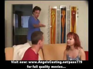 redhead d like to fuck as bride does oral for big