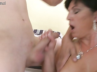 two juvenile cocks for large breasted squirting