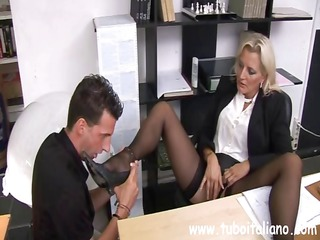 hardcore italian mif with a charming clit makes