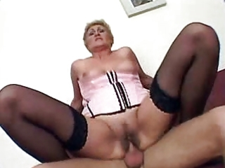 granny gets screwed and creampie