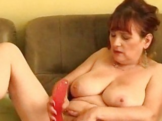 granny solo playing masturbation