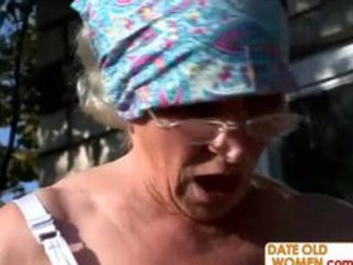 unsightly hairy granny fucks