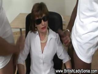 femdom older hawt brit gets cumshots