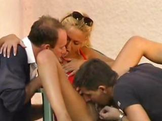 blond milf gets drilled double time by two