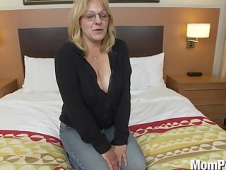 excited old lady does first porn