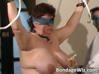 tied up bulky older slut enjoying part9