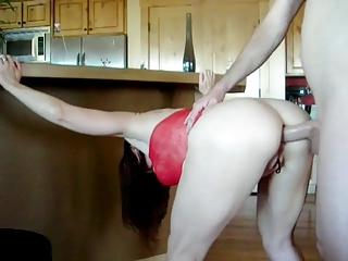 hawt mature in red costume receives screwed in