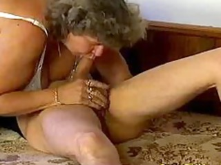 avid old mama acquires big penis blow job and in