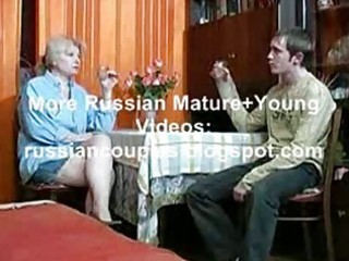 russian mamma and chap having a swallow