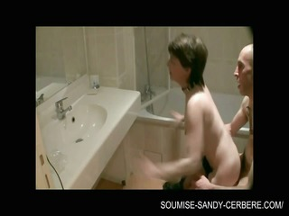 hardfuck in the bathroom libertine soumise sandy