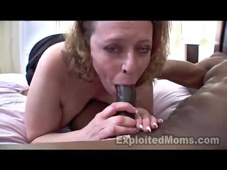 busty mamma in dilettante interracial movie