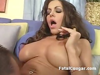 pussy licked aged housewife gives terrific