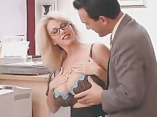 large titted mama with her boss...f310
