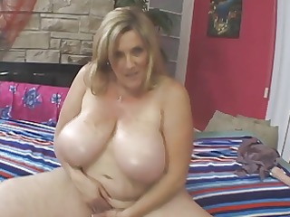big beautiful woman aged golden-haired