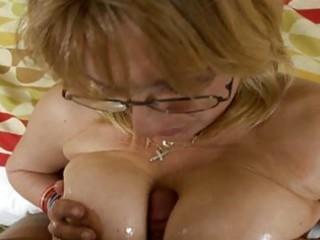 large tits older rides dick