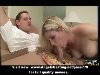 priceless excellent blonde lady fucking with the