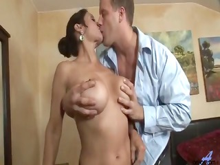 large tit cougar bawdy cleft pounding
