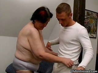 plump old housewife receives drilled part10
