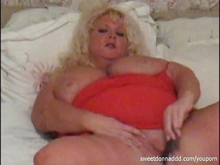 big beautiful woman in red
