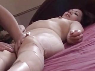 fantastic japanese aged babe engulfing
