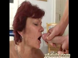 slender old redhead granny fuck juvenile man in