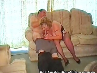 a fat granny has sex with her spouse